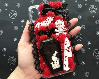 Creepy Cute Decoden Phone Case for iPhone X | Ready to Ship Decoden Case