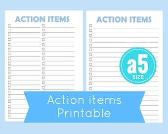 A5 To Do List Printable Planner Printables Checklist