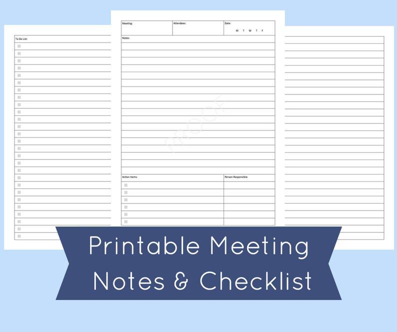 image regarding Notes Template Printable named Conference Notes Template Printable - Floss Papers