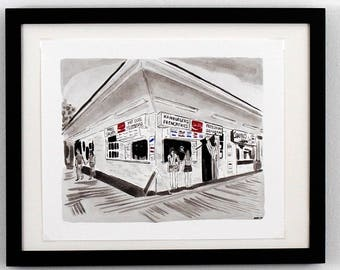 Gus and Gus Print - Rehoboth Beach, Delaware Art