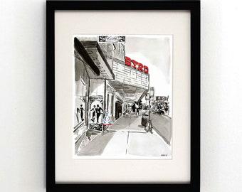The Byrd Theatre - Carytown, Richmond VA - Giclee Print