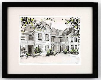 Old Bon Air Hotel, Richmond VA - Giclee Print