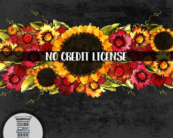 NO CREDIT license for personal and limited commercial use of up to 500 copies