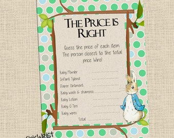 Printable Baby Shower Game 4 Pack The Price Is Right Etsy