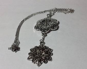 Beautiful Drop Flower Necklace