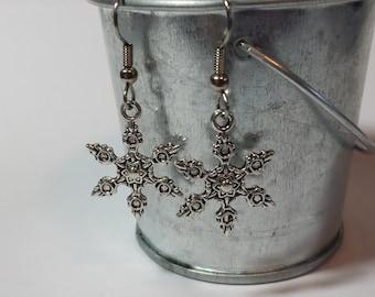 Large Snowflakes Earrings