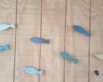Wooden Fish Wall Art Etsy