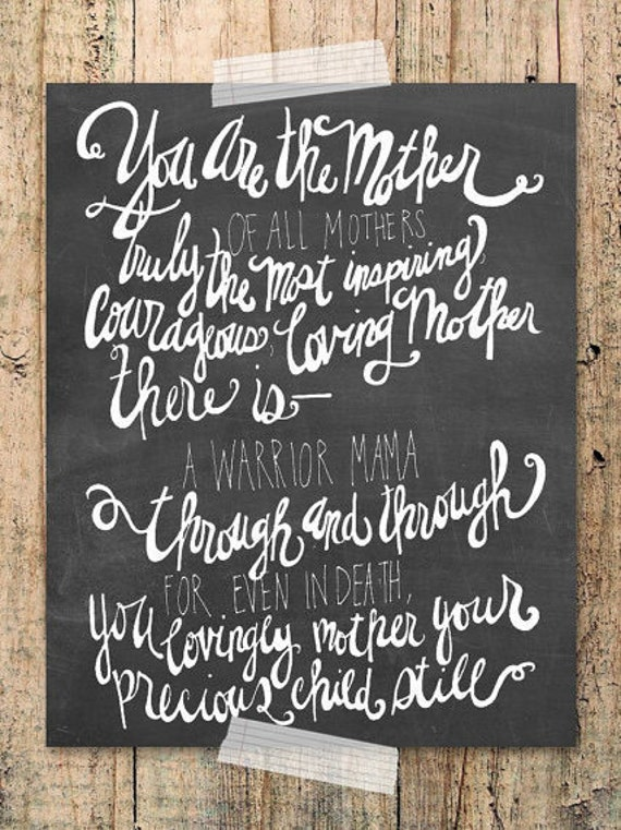 You Are The Mother Of All Mothers Pregnancy Loss Child Loss Etsy