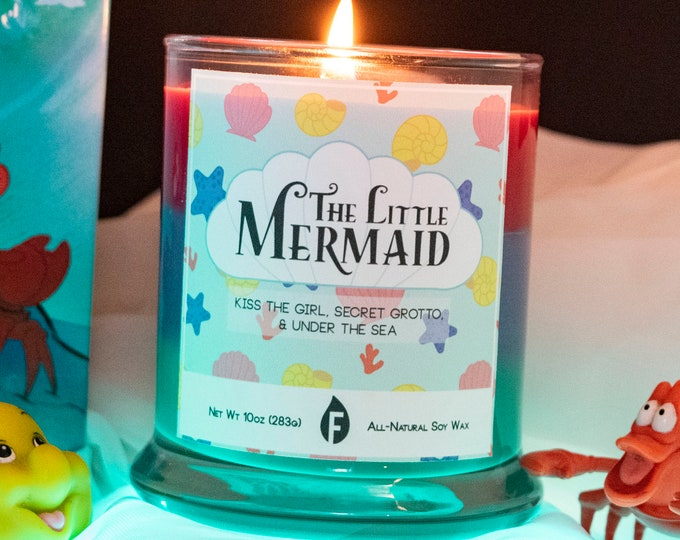 The Little Mermaid Inspired Scented Candle