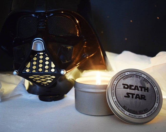 Death Star Inspired Scented Candle