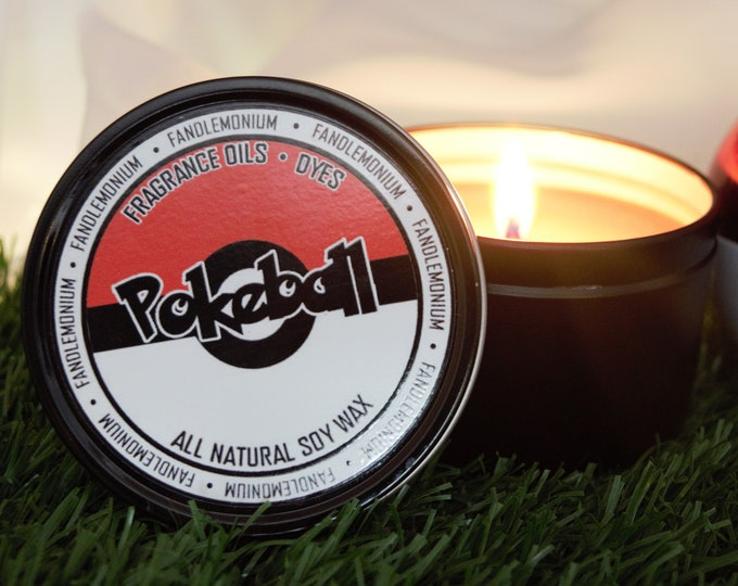 Pokéball Inspired Scented Candle