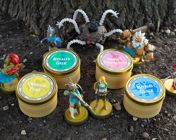 Breath of the Wild Inspired Scented Candle Tins