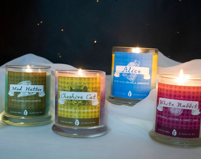 Alice in Wonderland Inspired Candles