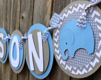 Elephant Baby Shower Banner Etsy