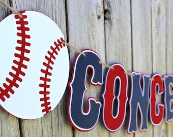 Custom Wording Baseball Banner - Baseball Birthday Banner - Baseball Baby Shower - Baseball Happy Birthday - Nursery Decor - Personalized