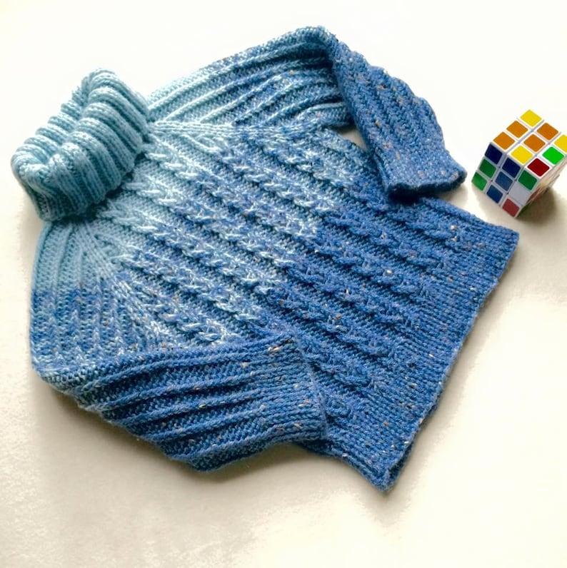 96d655f106e230 Collo alto maglione invernale bambino a mano a maglia | Etsy
