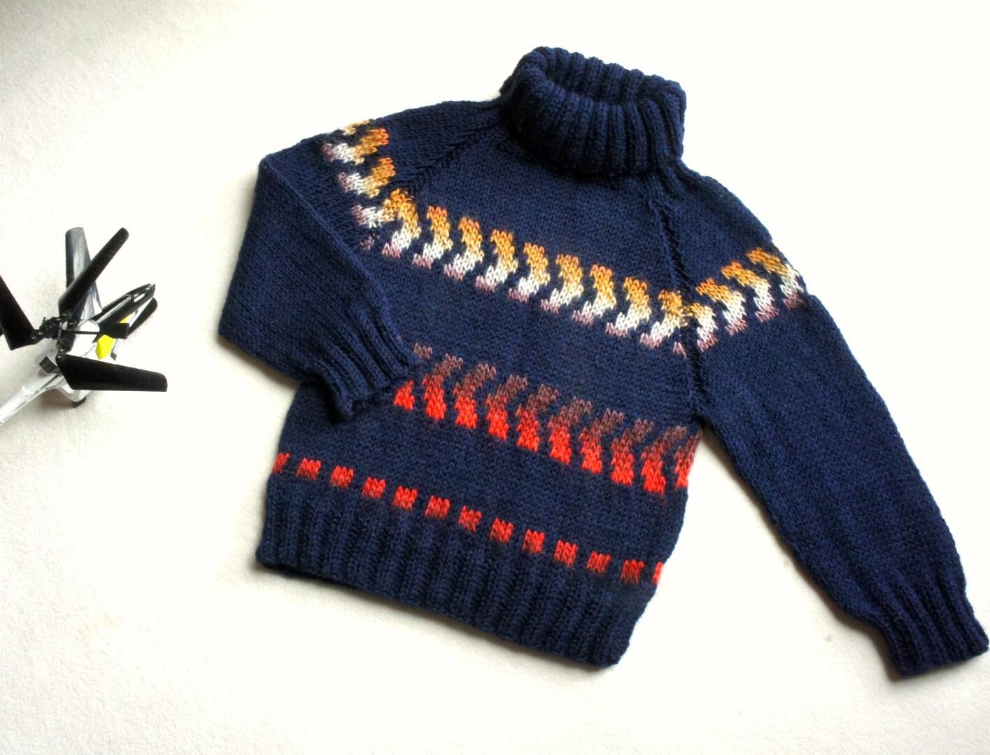 7ea235e9e Baby sweater turtle neckHand knit boy sweater wool boys