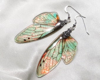 faerie art best gifts costume wings fantasy accessories fairy earrings iridescent fairy wings color changing earrings magical jewelry