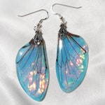 cicada earrings, insect wing earrings nature jewelry, something blue for bride iridescent wedding jewelry, bohemian earrings, best gifts