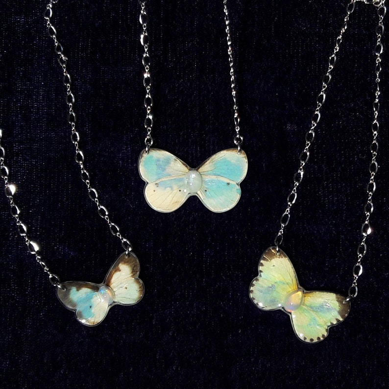 butterfly necklace dainty cloud jewelry dreamer gift sky necklace October birthstone boho style jewelry gift for her best friend gifts