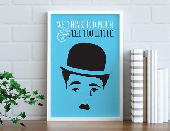 Sofortiger Download Charlie Chaplin Minimalistische Druckbare Poster Einzigartige Inneneinrichtungen Der Große Diktator Zitat Alten Hollywood