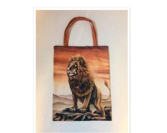 fd2b66c0abb LION COTTON TOTE Bag, Reusable Grocery Bag, Foldup Shopping Bag, Bags For  Animal Lovers, Lion Lover Gift, Lion Image