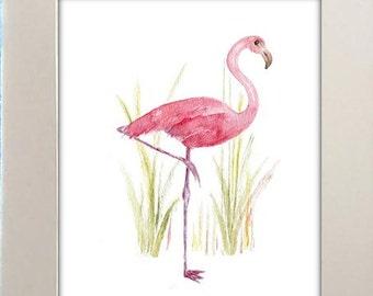 Flamingo schilderij etsy