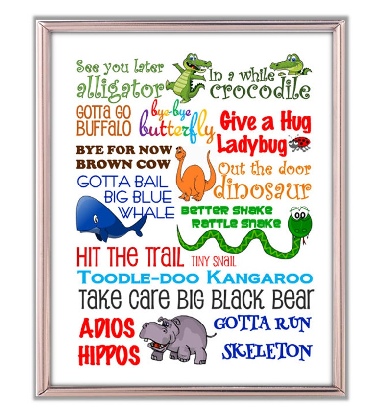 photo regarding See You Later Alligator Poem Printable called Check out Your self Afterwards Alligator Inside of a despite the fact that Crocodile. Exciting Goodbye Print. Artwork for Childs Area. Artwork for Cl Area. Goodbye Indicator. Goodbye Rhymes
