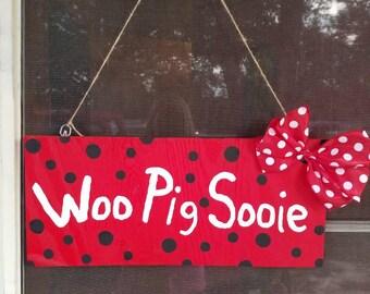 Woo Pig Sooie wall hanger or door hanger