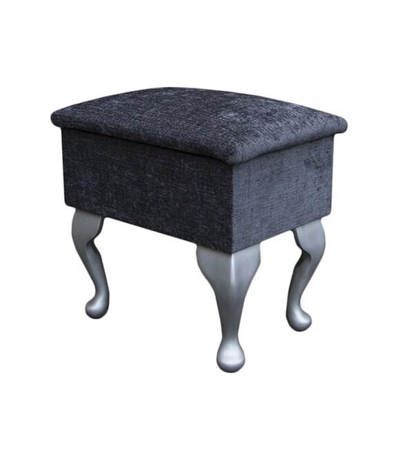 Fantastic Small Dressing Table Stool In A Presto Charcoal Fabric Pres720 Spiritservingveterans Wood Chair Design Ideas Spiritservingveteransorg