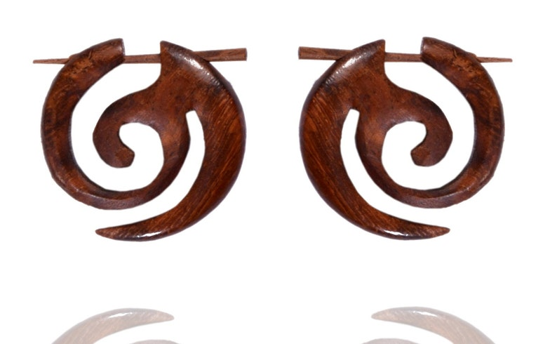Tibetan Handmade Wooden Tribal Zoolu African Boho Stick Brown Wood Erring WER378
