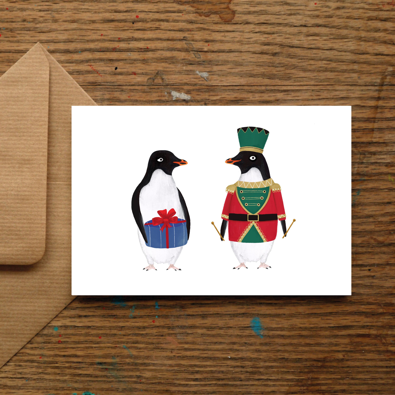 Little Drummer Boy Penguin Christmas Cards Xmas Festive | Etsy