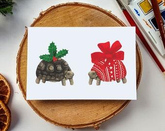 Christmas Tortoise Christmas Cards - Xmas - Festive Card - Holidays - Holiday Card - Tortoise - Funny - Christmas Card - Greetings - Present