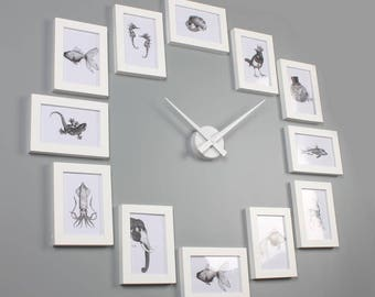 Wall Clock Frames Etsy
