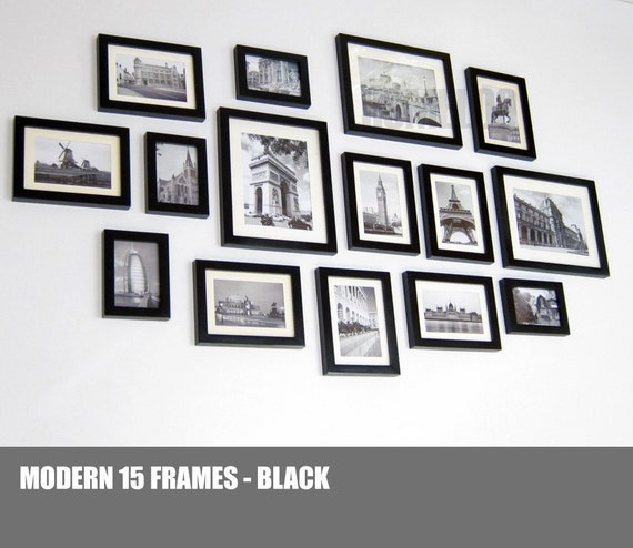 Photo Picture Wall Frame Set Gallery Modern 15 Etsy