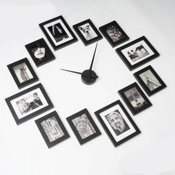 Photo Picture Frame Wall Clock Modern 12 | Etsy
