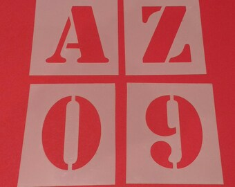 Letter Stencils Extra Large A - Z 0-9 Full set. Custom cut to the size you require