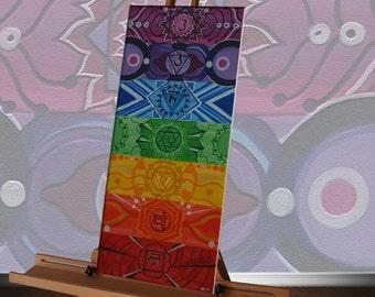 7 Chakras canvas painting