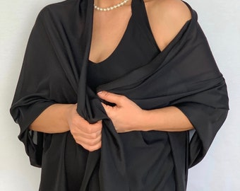 28f5fc5053 Black evening shawl