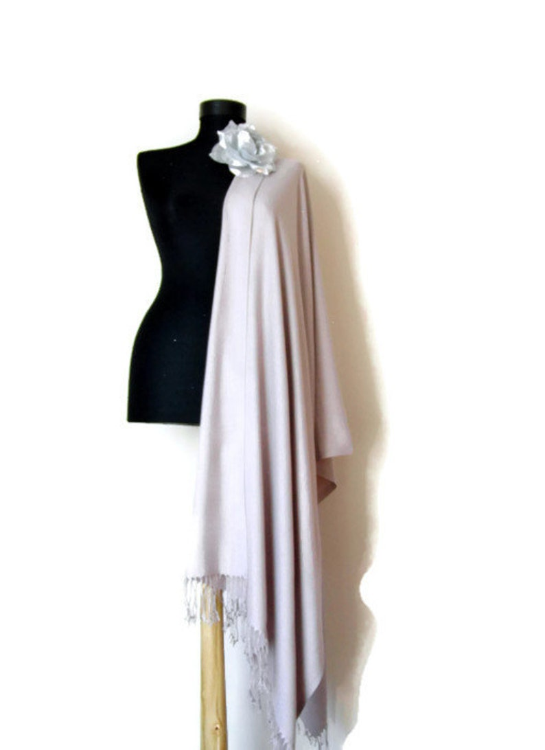 91b57f981 Taupe Wedding Shawl Rosy Brown Wrap Taupe Bridesmaids Gift | Etsy