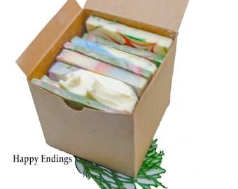 Soap Ends Sampler Handmade Soap Cold Process Soap Organic Soap Travel Soap Soap Box Rustic Soap Rustic Decor