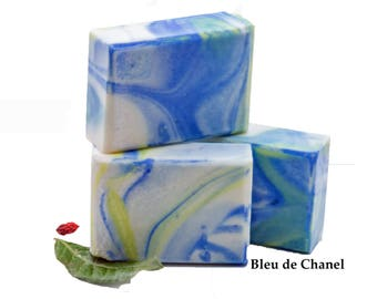 Handmade Soap Mens Soap Gift For Him Gift For Dad Cold Process Soap Organic Soap Bleu de Chanel Type