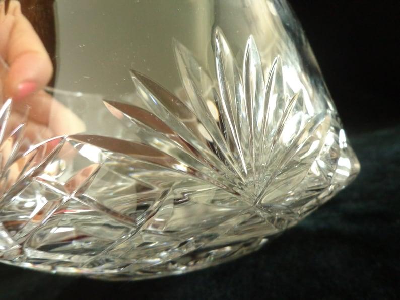 Rogaska Full Lead Crystal Bowl Hand Made in Yugoslavia Fan Design Heavy Crystal Bowl 6