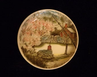 Johnson Brothers Butter Pat Plate, Ring Dish,English China Johnson Brothers Kitchen Trinket Dish, Herb Cheese Spread Mini Plate