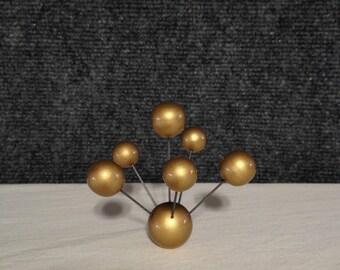 Retro Atomaren Splash GOLD Lampe Schatten KREUZBLUME Molekül Atom Leuchte  Molekulare Topper Kunst Skulptur Mid Century Modern Vintage Stil
