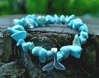Pacifica Bracelet Turquoise and Mermaid Tail Unisex Bracelet, Summer Bracelet, Christmas Gift, Stocking Stuffer, Black Friday, Cyber Monday