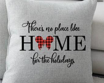 Disney Christmas Pillow, Home for the Holidays Christmas Pillow, Disney Pillow, Disney Gift, Disney Christmas Gift, Disney Decor, Holidays