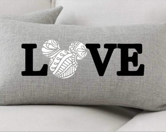 Disney Pillow Love, Mickey Minnie Love, Housewarming, Disney Lover, Disney Farmhouse, Disney Decor, Disney Home Pillow, Home Decor