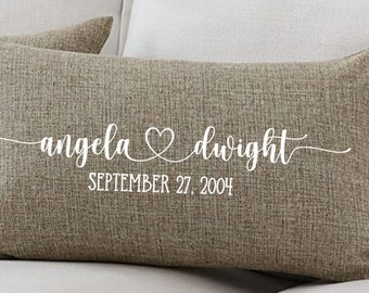 Couple Name Pillow, Valentines Day Pillow, Personalized Pillow, Anniversary Gift, Newlywed Gift, Gift for Couple, Personalized Couple Gift