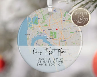 Our First Home, Housewarming Gift, First Home Gift, Closing Gift, First Home Ornament, Christmas Gift New Home Owners, CO4